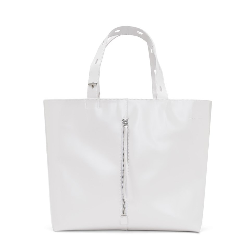 KARA's leather panel tote  is the most perfect travel bag I ever did see.
