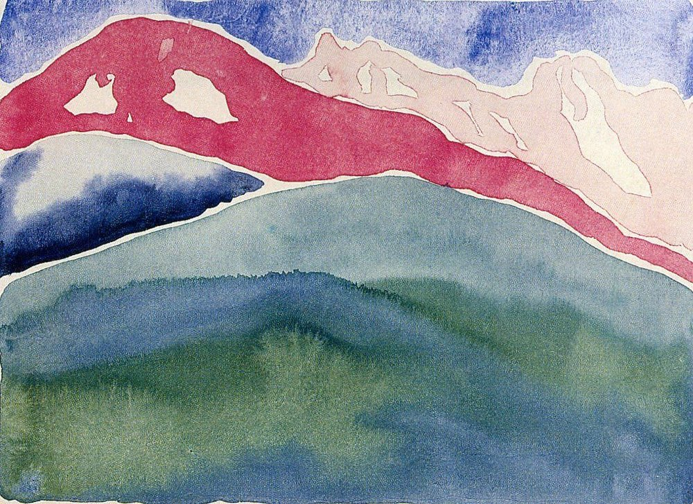 Georgia O'Keeffe on a Monday.