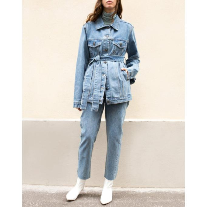 A grown-up autumn spin on the  denim jacket .