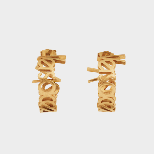 A Versace hoop earring makes complete sense, when you think about it.