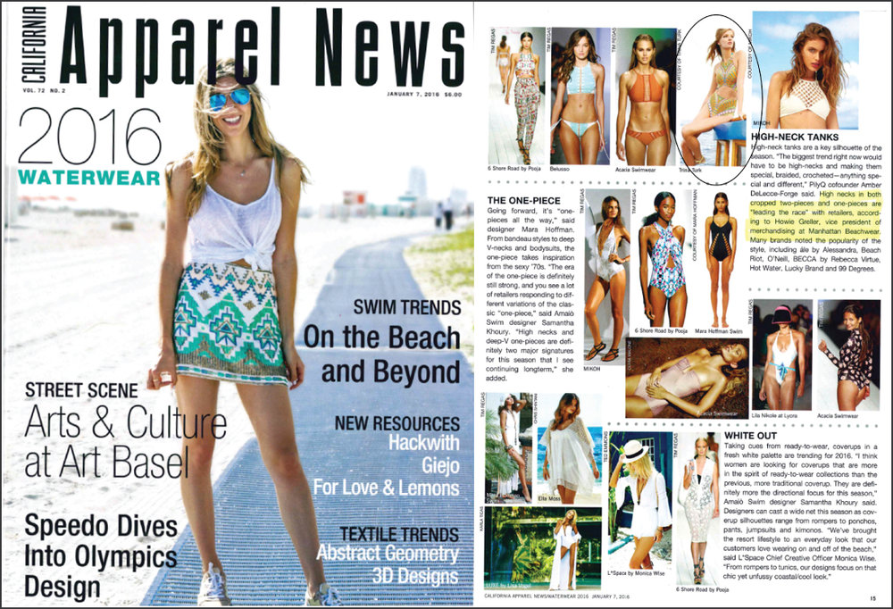 Apparel News, January 2016
