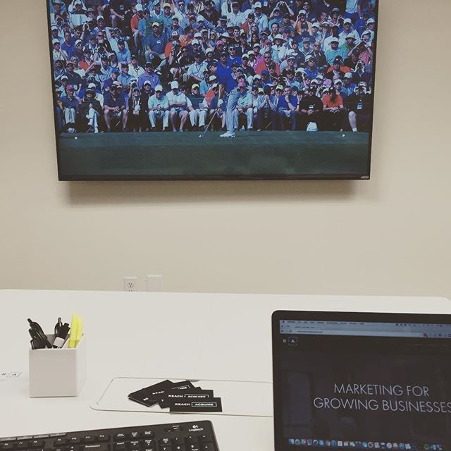 When it's Master's Friday at the office. #Masters #agencylife