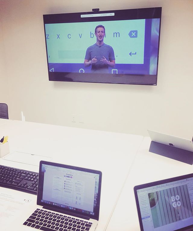 Today we're streaming #F8 from the conference room while our CEO attends Mark Zuckerberg's keynote!