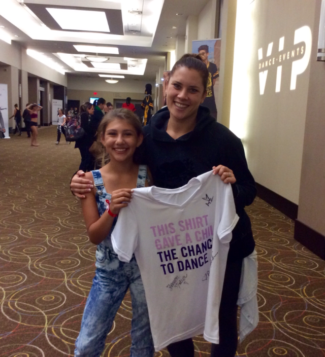 Meghan McGrath with h.o.p.e. JR Choreographer Alycia Hebert