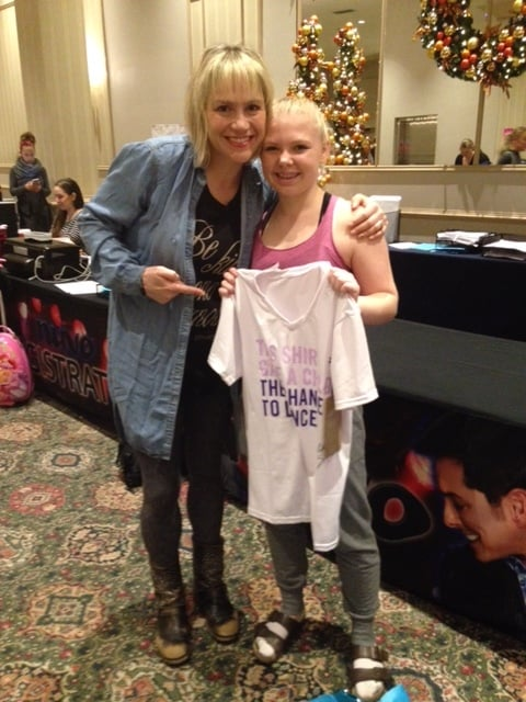 Stacey Tookey with h.o.p.e. JR choreographer Kylie Dennis