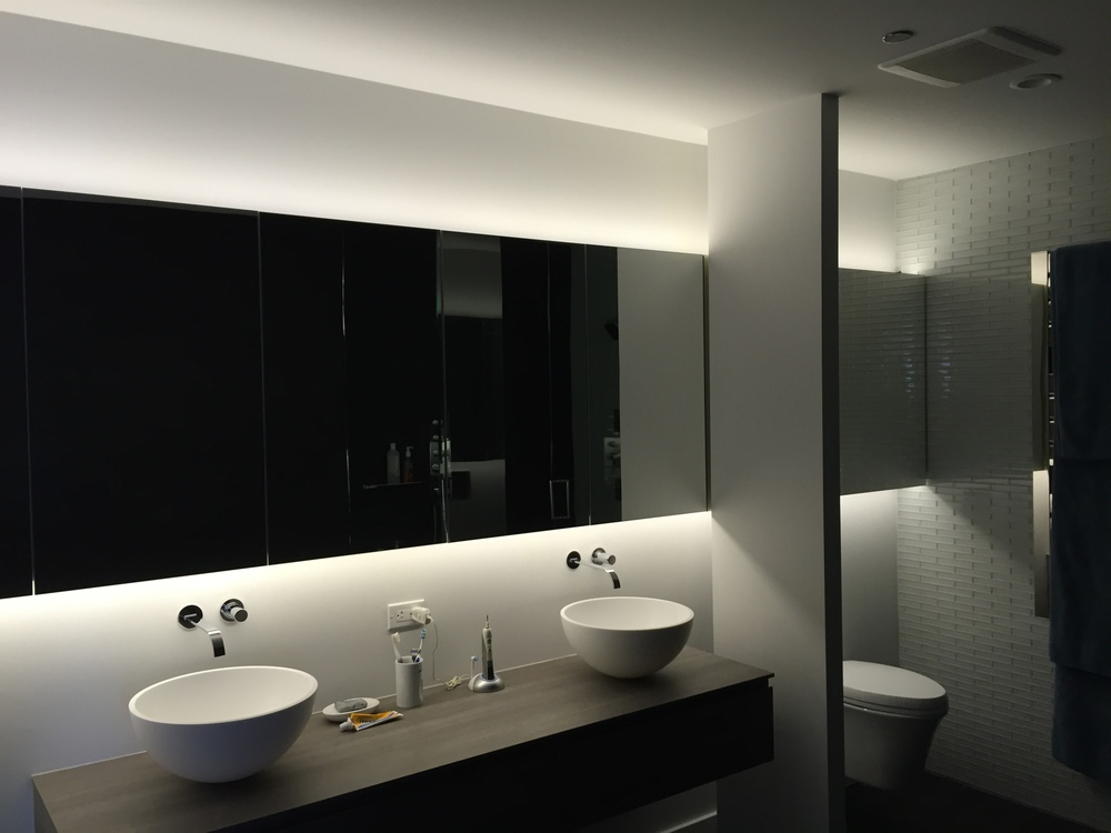 In-Progress Photo of Master Bathroom