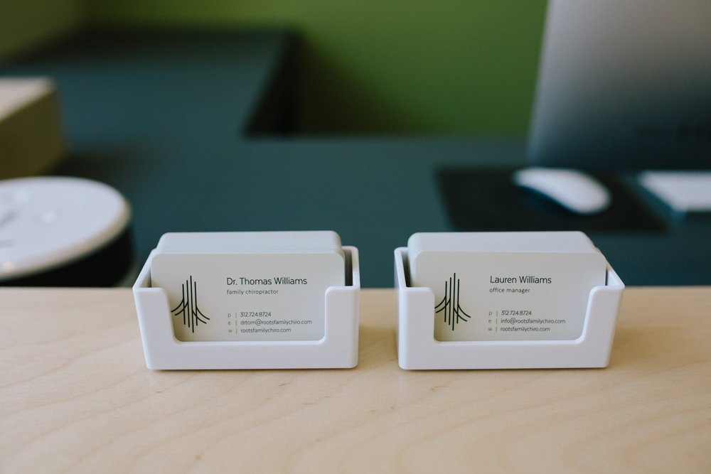 Detail: Business Cards on Front Desk