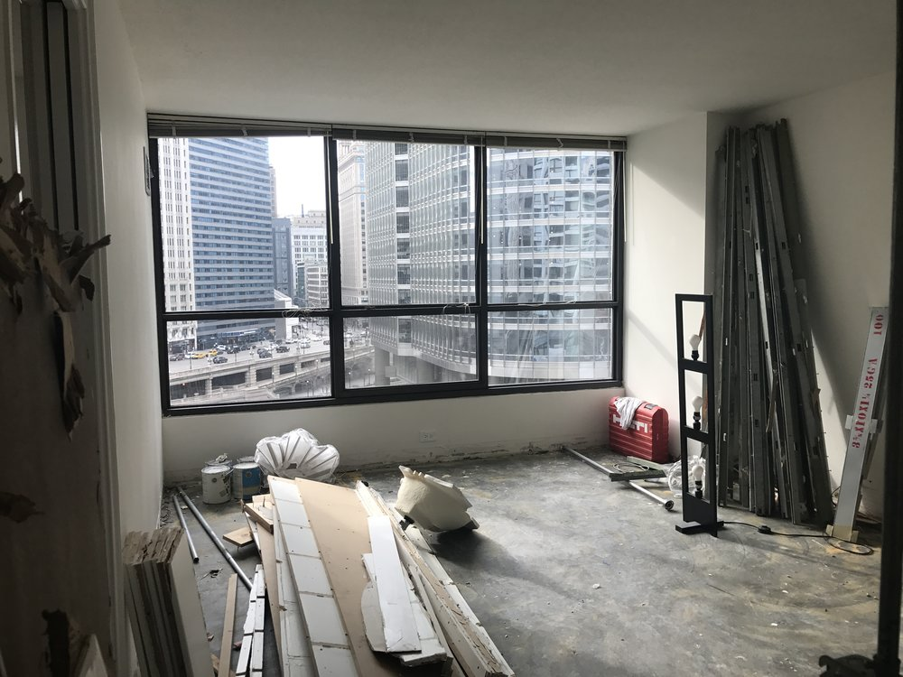 Bedroom: Post-Demolition facing the river and Trump Tower