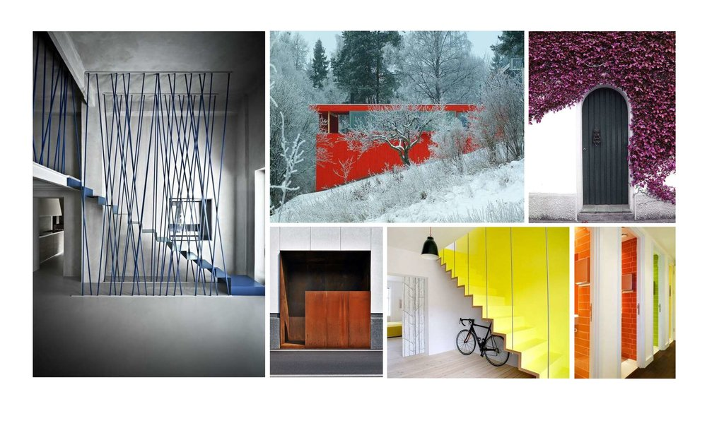 Ellipsis designers studied color precedents throughout the architectural world