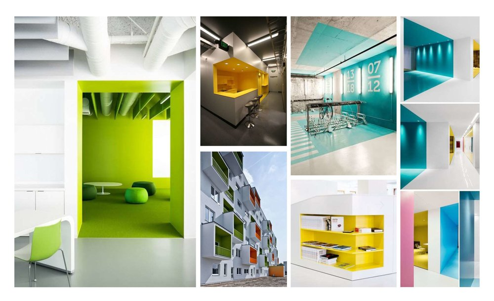 Important moments can be highlighted through careful material and color selections