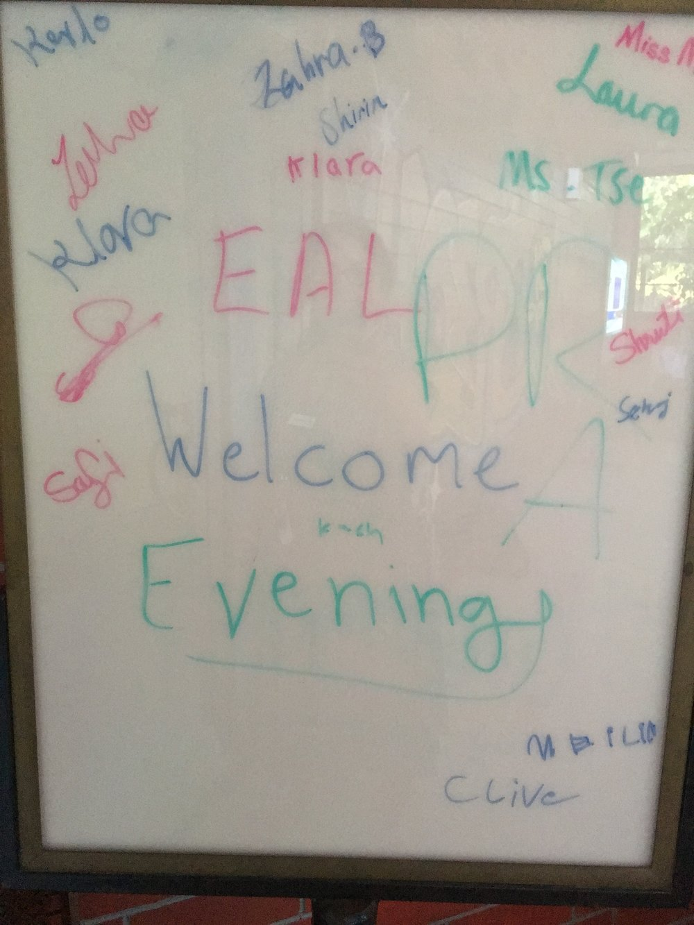 EAL Welcome Evening