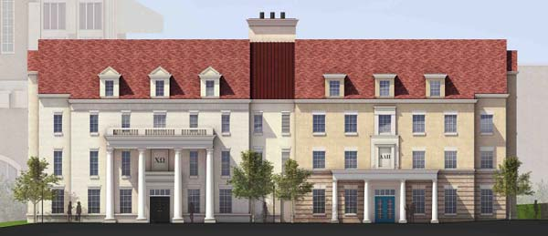 Alpha Delta Pi and Chi Omega will be neighbors in the new TCU Greek Village.