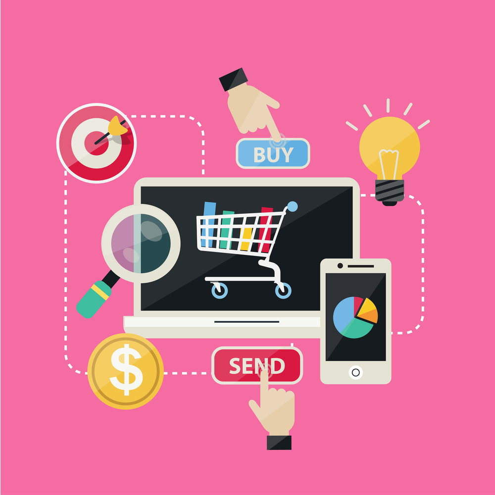 Flat Design Concept Shopping Online and Social Network Icons Vectors.jpg
