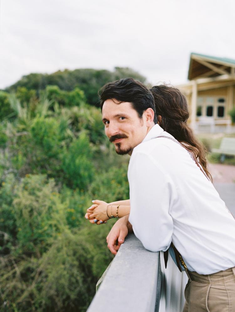 portrait of handsome happy groom