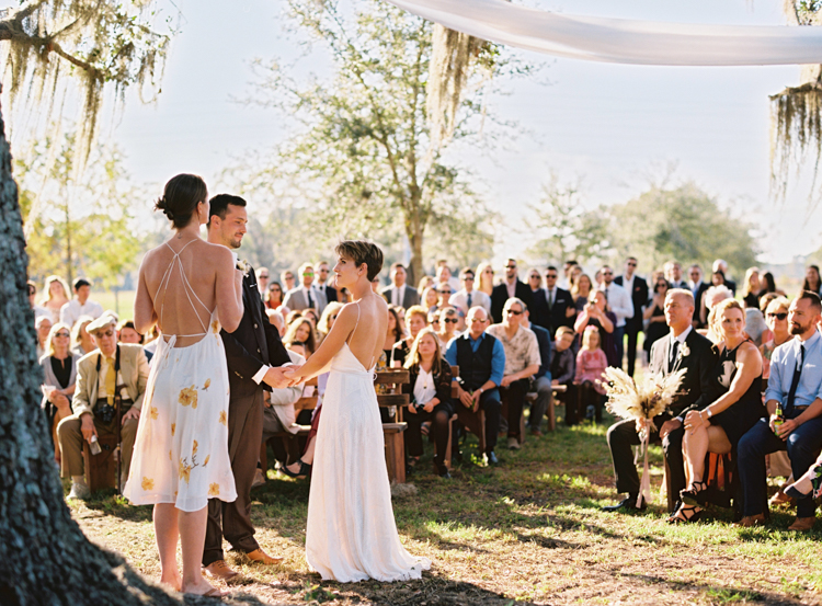 wedding ceremony at Congaree and Penn Farm