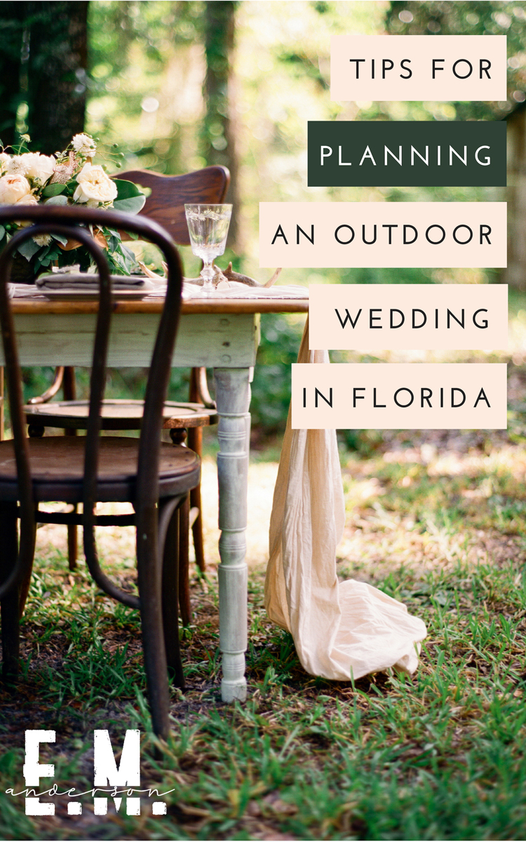 how to plan an outdoor wedding jacksonville florida
