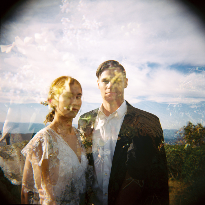 double exposure of a modern bride and groom jacksonville florida