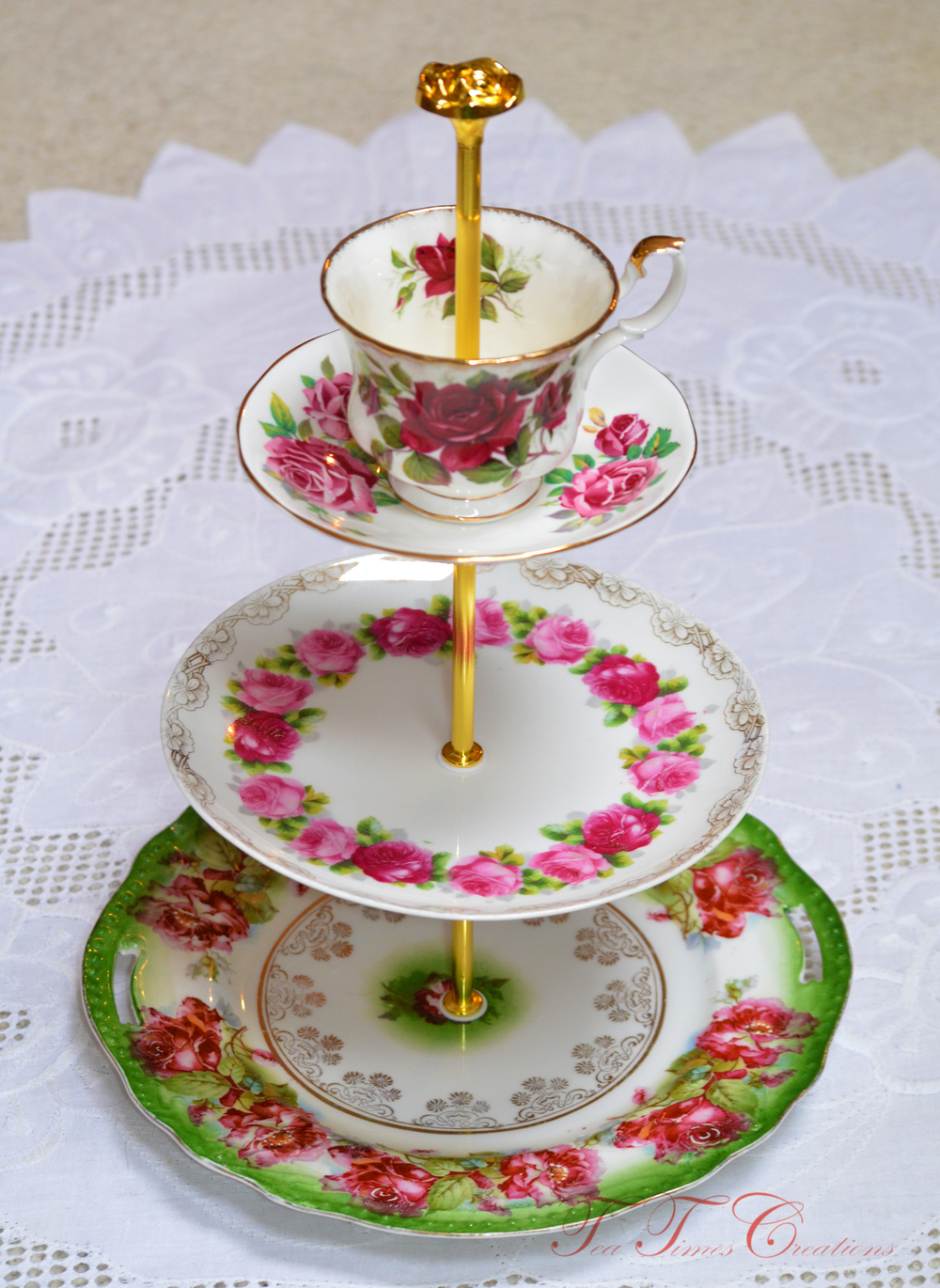 Tea/Cake Stand at www.teatimescreations.com