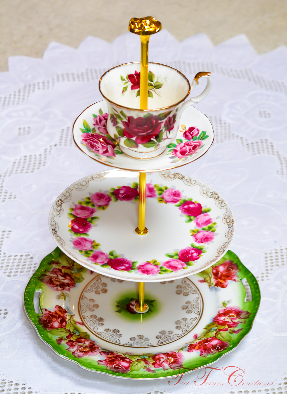 This tutorial will show you how to create a  Mad Hatter  style cake/tea stand. These whimsical center pieces are very popular among vintage china lovers.  sc 1 st  Tea Times Creations & DIY: How to make a Mad Hatter Tea/Cake Stand u2014 Tea Times Creations
