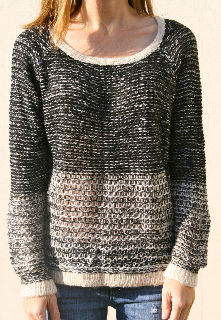 Black & White Knit Sweater — Willow Maddison
