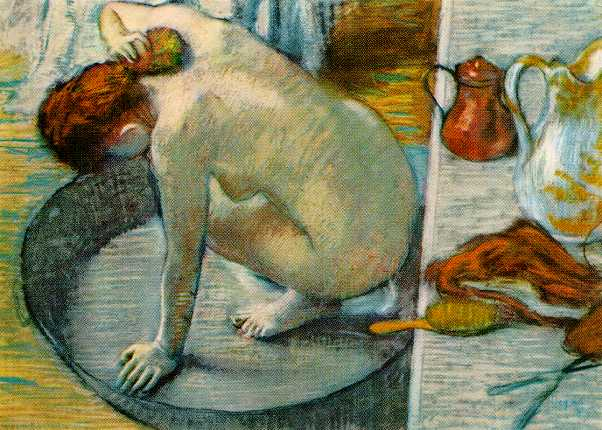 Le tub by Edgar Degas (1886)
