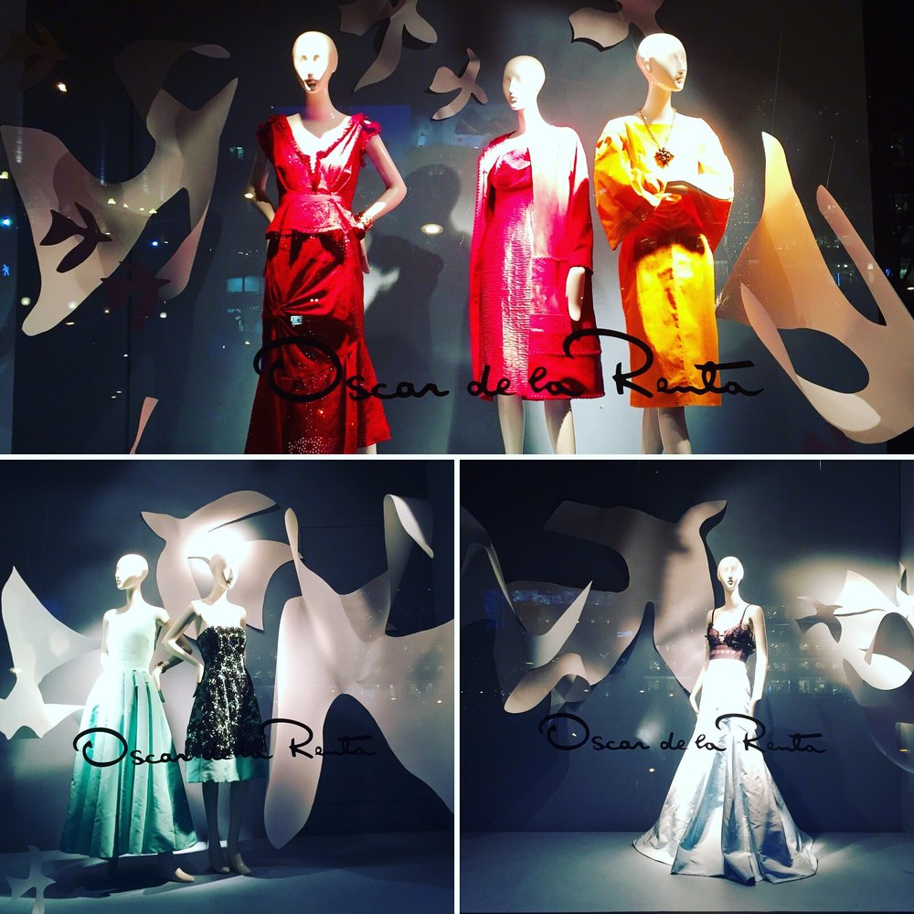 The Oscar de la Renta windows were on display at the same time as The Legion of Honor's Oscar de la Renta exhibition