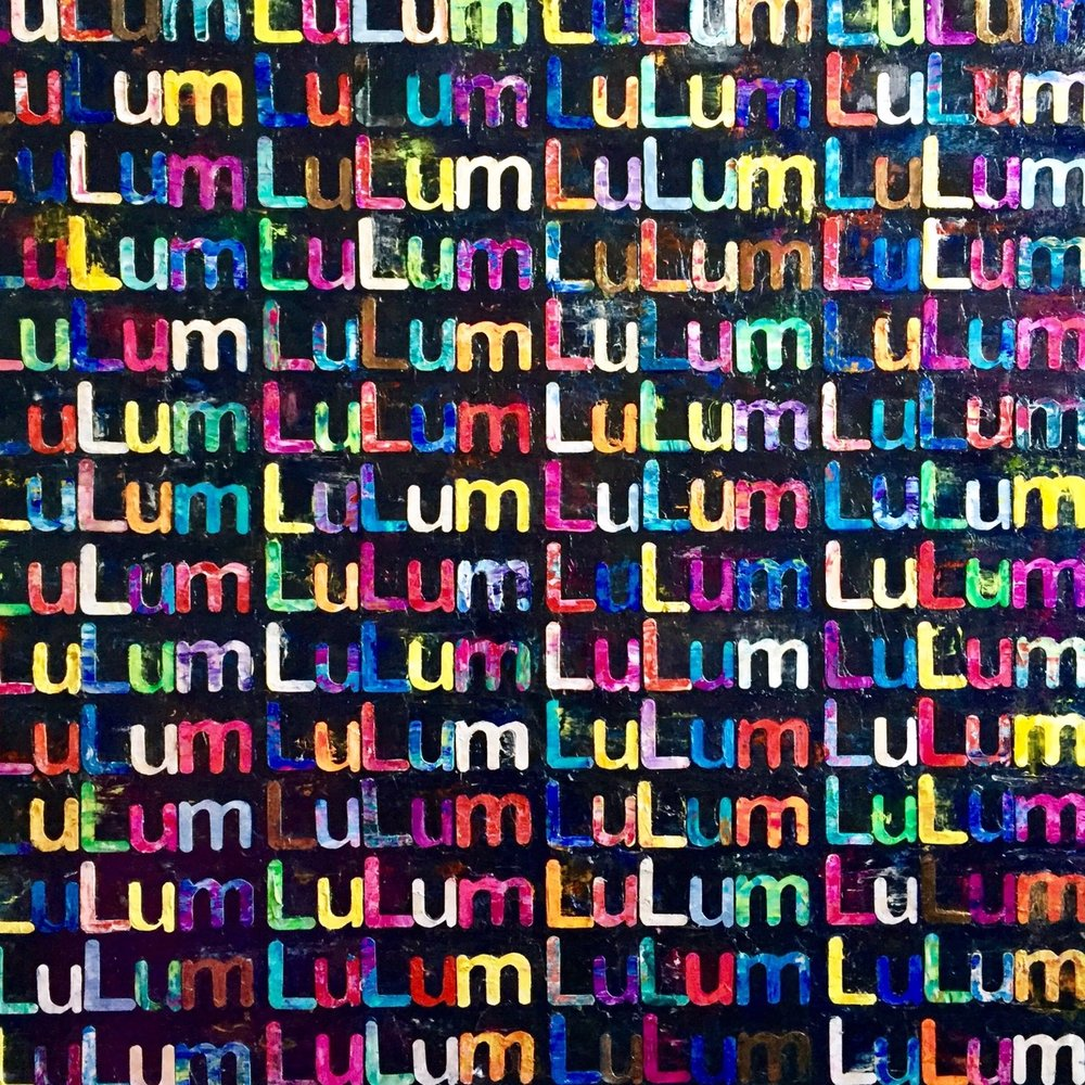 "LuLum (Love you Love you more), 46 x 46"" mixed media, 2016"