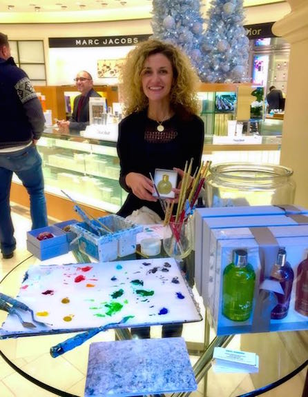 In store event with Molton Brown at Neiman Marcus, December 2015