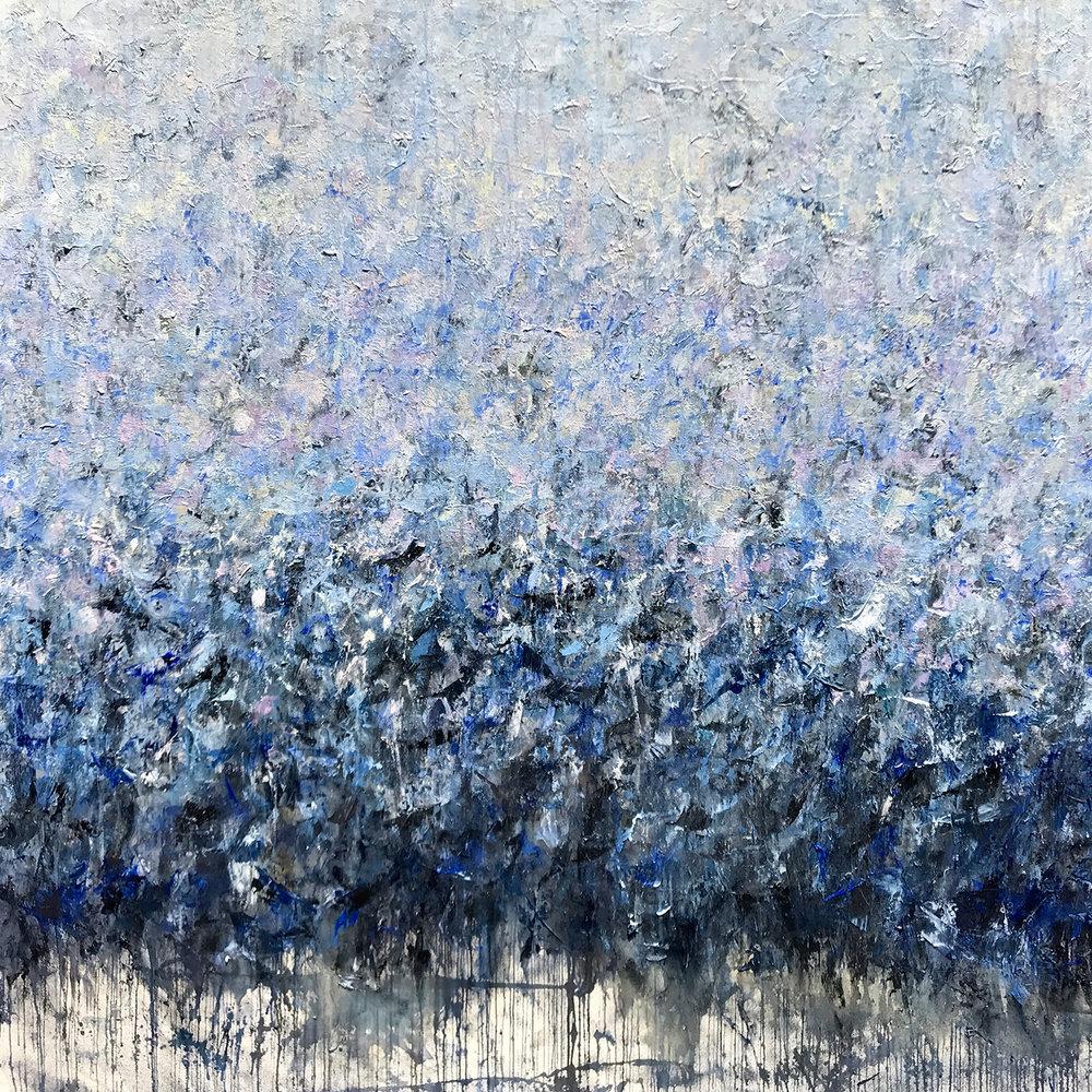"The Cherry Orchard (murmuration) • 72x72"""