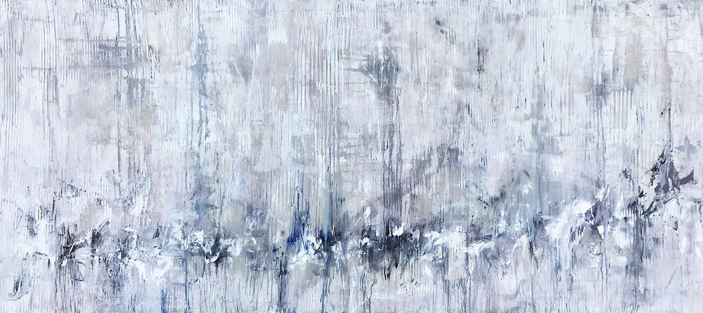 The Sound of Silence (murmuration) • 33x73""