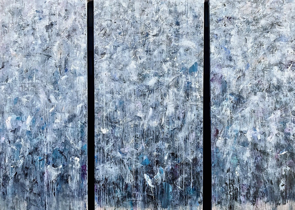 """Something I've Been Meaning To Tell You (Triptych) • 30x72"""" / 36x72"""" / 30x72"""""""