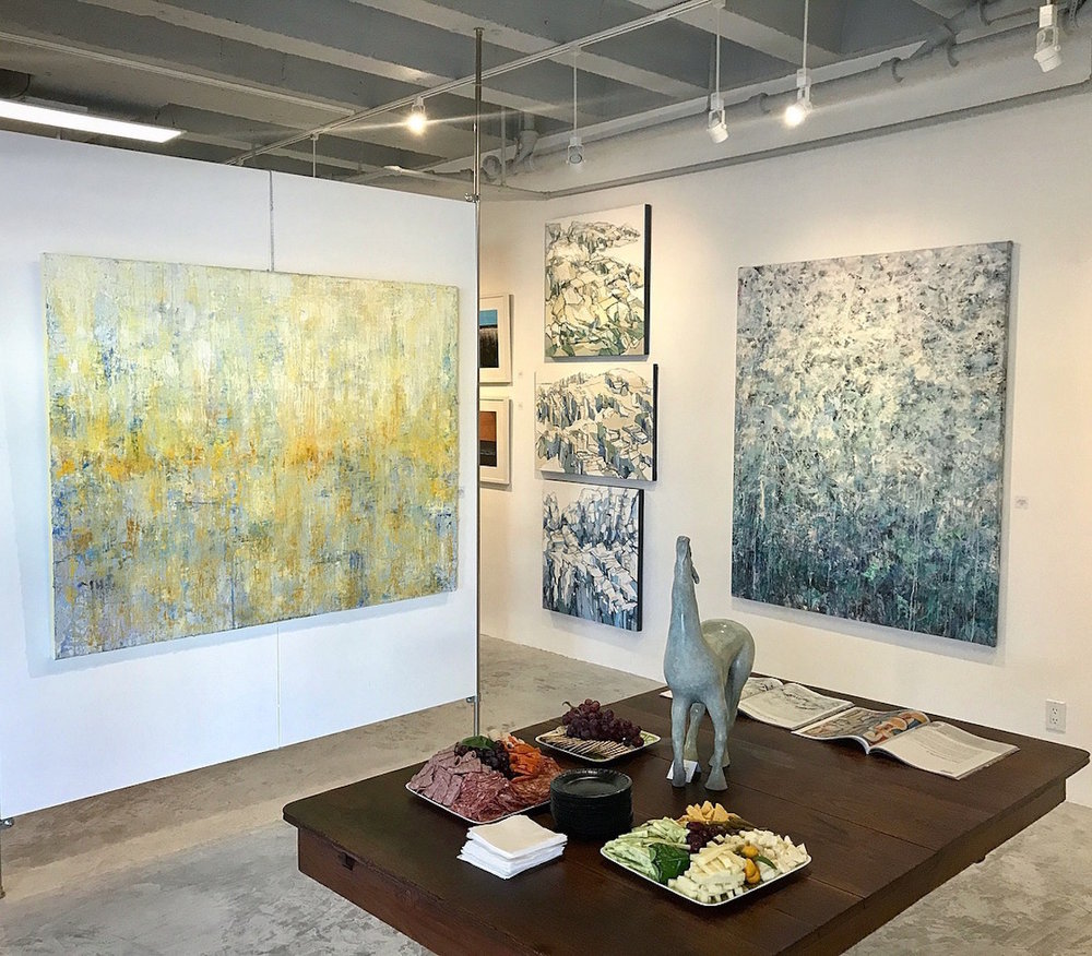 Opening reception at Barba Contemporary Art, Palm Springs. April 8, 2018