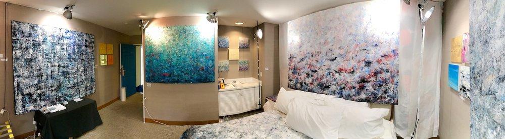 Installation of Room 230 for StARTup Art Fair. Los Angeles, January 2018
