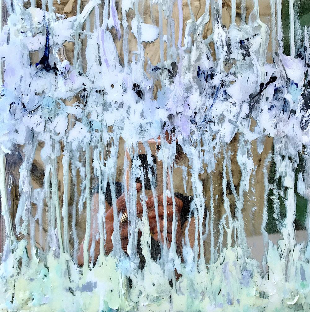 Nikki Vismara_La manana_12x12%22_acrylic, epoxy, & mirror tile on panel_2017 copymed.jpeg