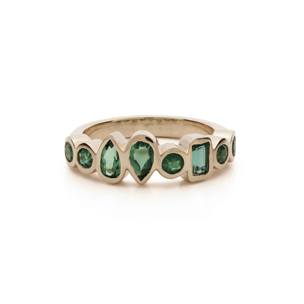 Once Loved, Loved again 18K Emerald Ring    Designed with customer's emerald stones