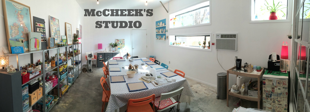 This is where McCheek's Mayhem ceramics are made and classes are taught for kids and adults.