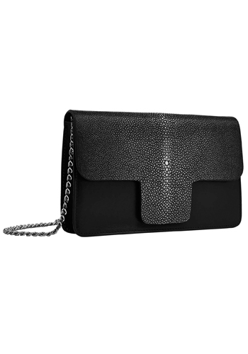 Lili Radu_FW1617_STINGRAY CHAIN CLUTCH BLACK.jpg