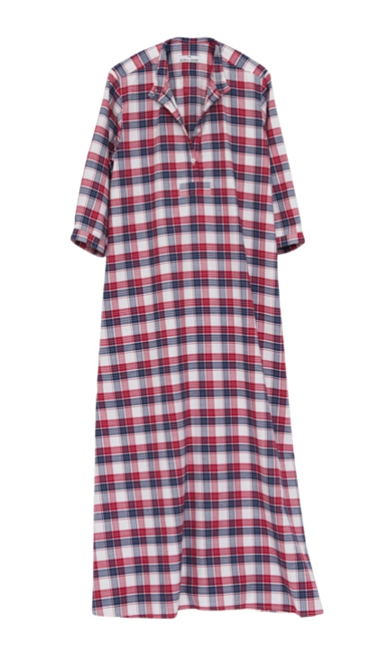 Pictured : Full Length Sleep Shirt in Berry Plaid