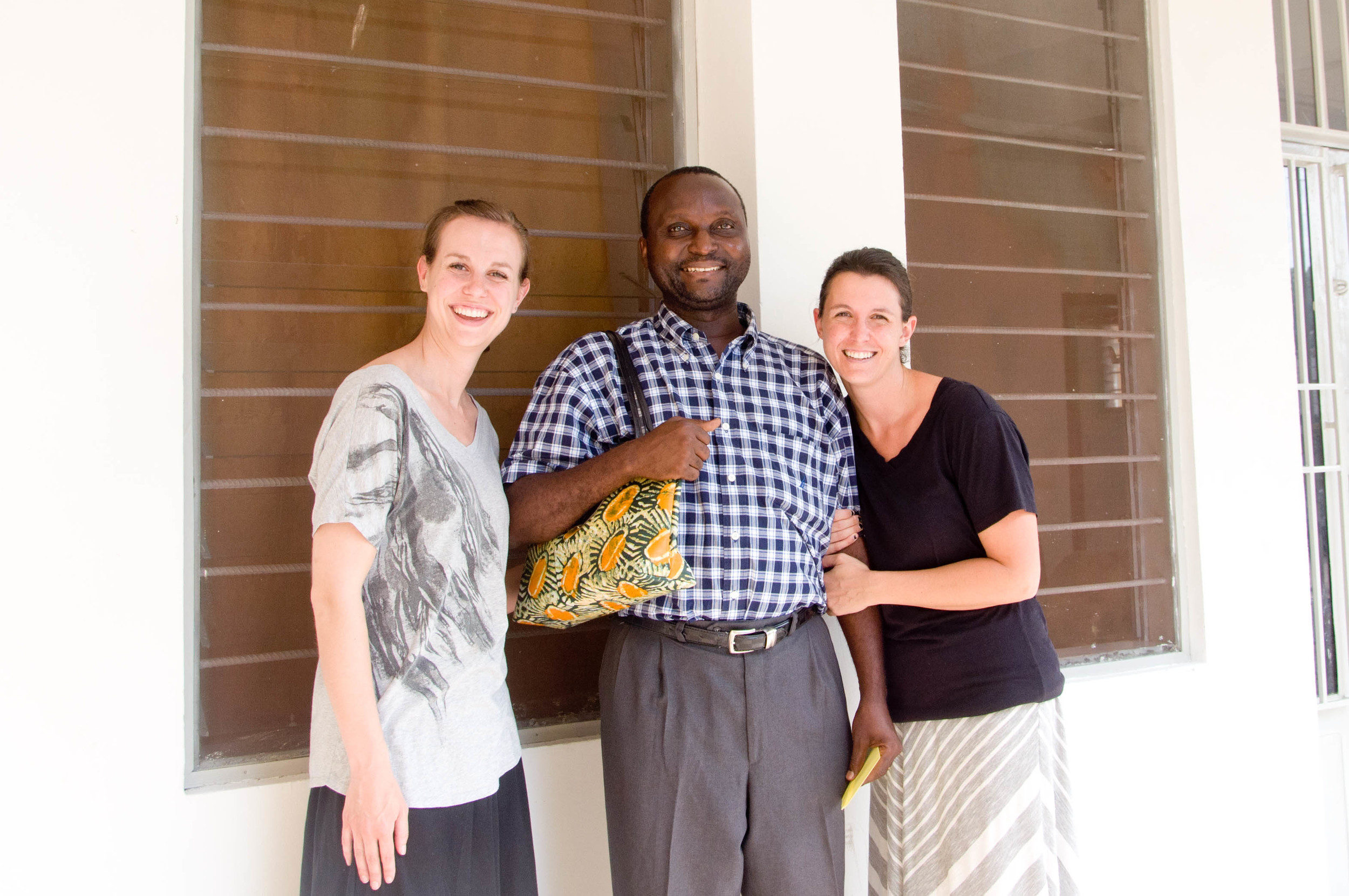 Katie McDaniel, of the Love More Foundation, Dr. Jerry Kindomba, Giving Back to Africa Program Manager, and Danielle Anderson, of DRC Adoption Services.