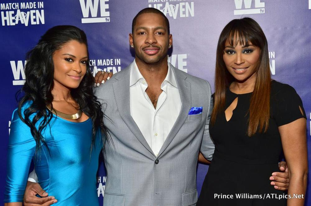 "Claudia Jordan, Shawn Bullard and Cynthia Bailey attend the ""Match Made in Heaven"" screening at TWELVE Hotel Atlantic Station."