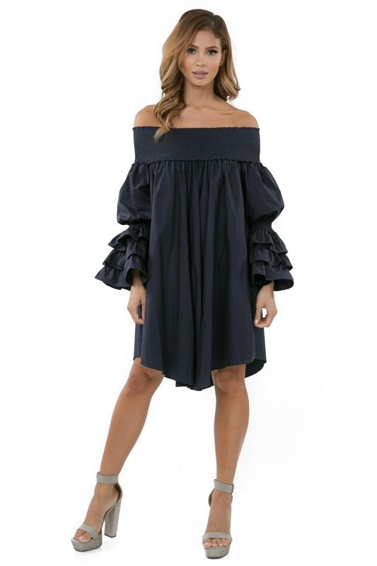 Less expensive version off the shoulder dress from My Secret Treasures Boutique Spring 2018  www.secrettreas.com