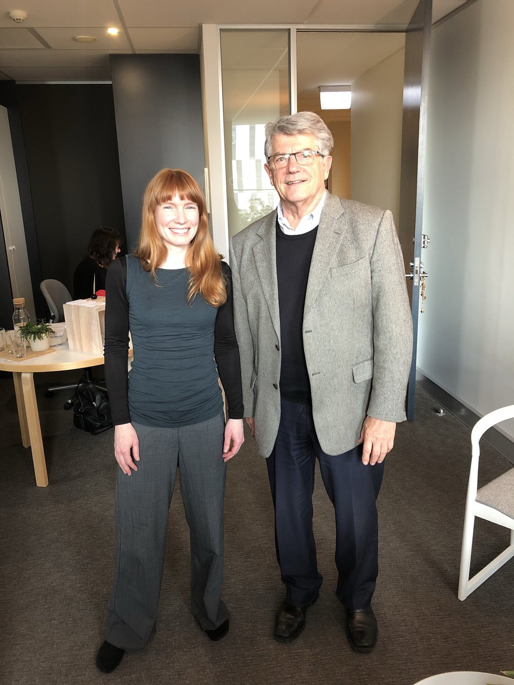 #bringinguscloser - Professor Claude Bernard, Internationally renowned MS researcher with Jane Costello
