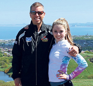 Jack Minacs and his daughter Sarah, a dancer and competitive cheerleader who lives with type 1 diabetes