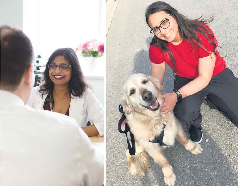 Dr. Kaberi Dasgupta (left) and colleagues at the Research Institute of the McGill University Health Centre published a study earlier in 2018 that revealed the stigma associated with having type 1 diabetes as a young person resulted in a greater risk of complications. Mariam Elkeraby (right) is one of the peer leaders in the Virtual Peer Network, helping young people with diabetes connect and share experiences and counteract feelings of being stigmatized.  Supplied
