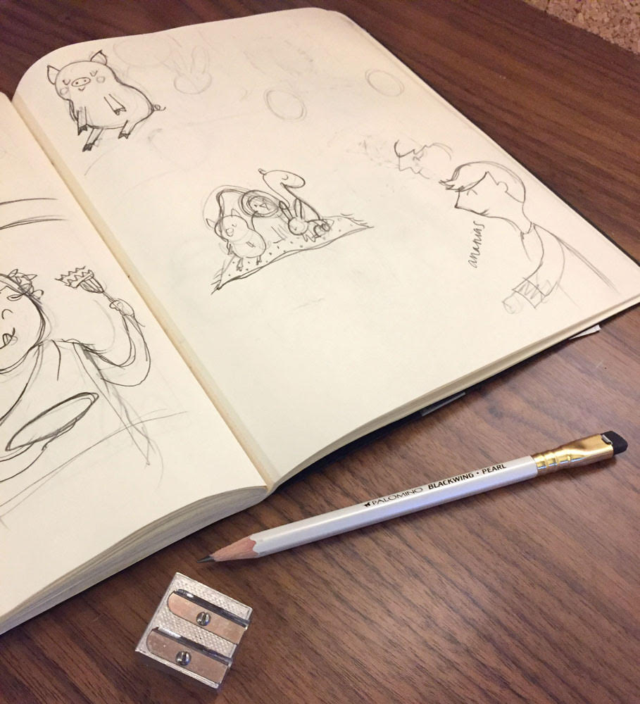 """I'm very picky about my pencils! I almost exclusively use a Blackwing Pearl by Palomino. They are so fabulous that they tend to wander off my desk and into my kids' hands all the time."""