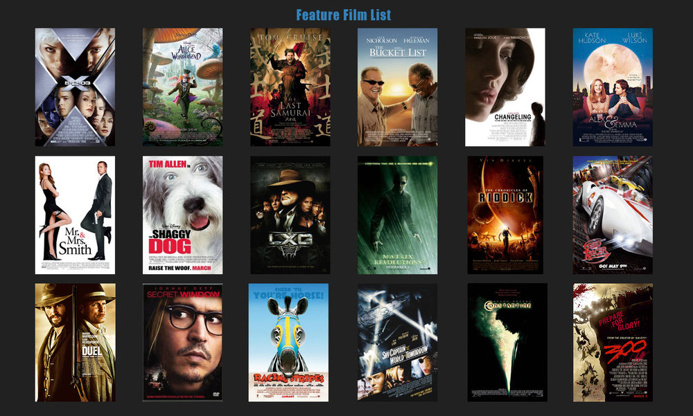 Feature Film List