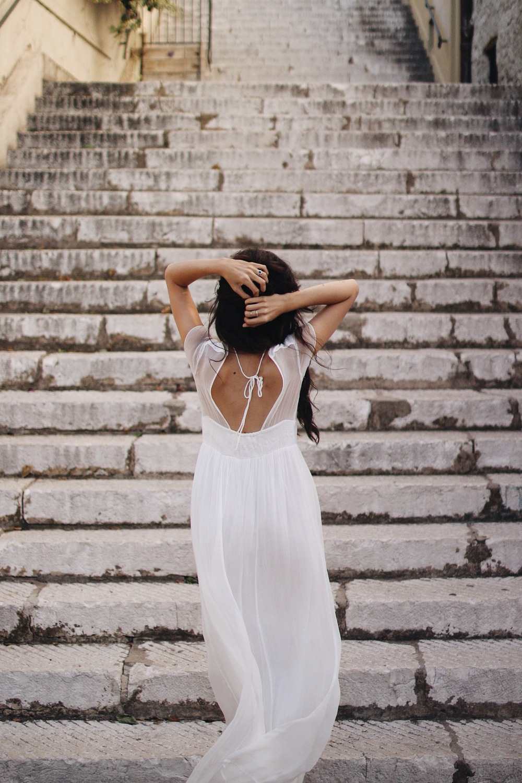 Gauze On the Steps // Mel Denisse