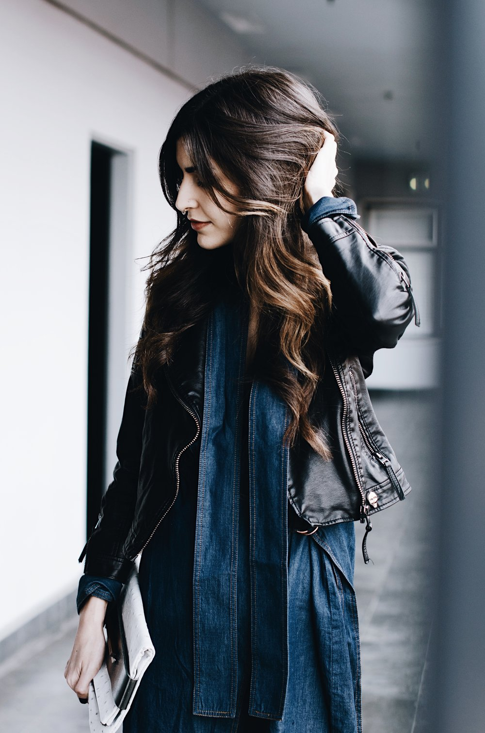 Denim & Grey Hues // Mel Denisse