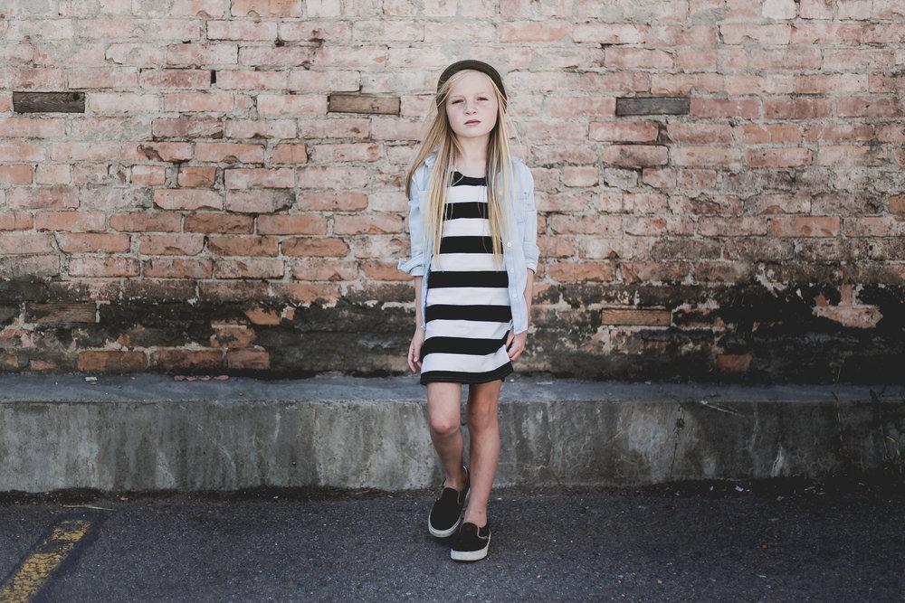 kid fashion stripe dress