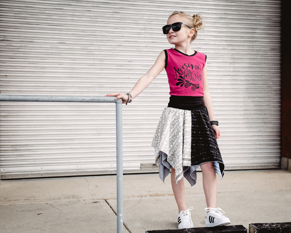 city kid style upcycled dress tween fashion